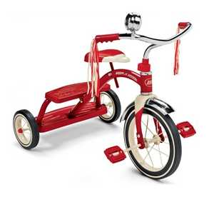 Radio Flyer 33 Classic Red Dual Deck Tricycle