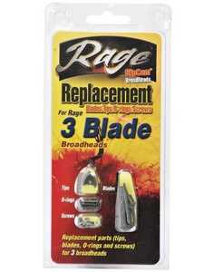 Rage Outdoors 30005 Rage 3 Blade Replacement Pack