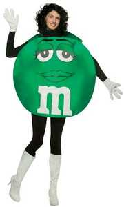 RASTA IMPOSTA 453-02 Green M&m Adult Costume