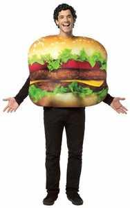 RASTA IMPOSTA 7084 Adult Get Real Cheeseburger Costume