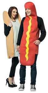 RASTA IMPOSTA 7295 Adult Hot Dog And Bun Couples Costume