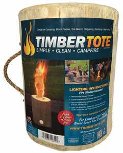 Timber Tote 16-0619 Extra Large One Log Campfire