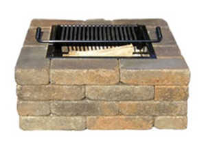 Pavestone SSK53624 Rumbled Wall Stone Firepit Kit