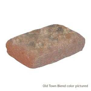 Pavestone 52399 Tumbled Plaza Rectangle Old Town Blend