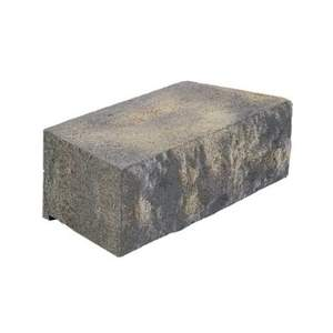 Pavestone 89635 Charcoal Tan Natural Impressions Riverstone 4x12-Inch Retaining Wall Block
