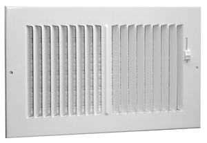 American Metal Products 382W12X6-R Register Multi Louver 12x6 White