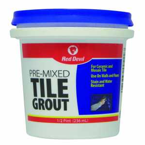 Red Devil 0422 Tile Grout Pre-Mixed 1/2 Pt