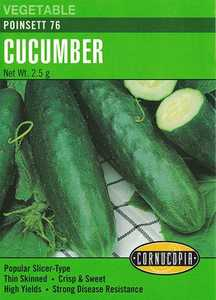 Cornucopia Garden Seeds 156 Poinsett 76 Cucumber Seeds