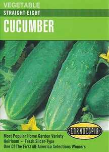 Cornucopia Garden Seeds 157 Straight Eight Cucumber Seeds