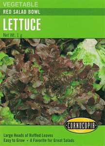 Cornucopia Garden Seeds 279 Red Salad Bowl Lettuce Seeds