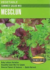Cornucopia Garden Seeds 248 Summer Salad Mix Mesclun Seeds