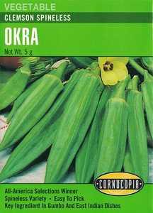 Cornucopia Garden Seeds 161 Clemson Spineless Okra Seeds