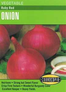 Cornucopia Garden Seeds 288 Ruby Red Onion