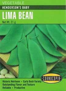 Cornucopia Garden Seeds 263 Henderson's Baby Lima Bean Seeds