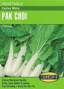 Cornucopia Garden Seeds 287 Canton White Pak Choi