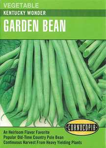Cornucopia Garden Seeds 191 Kentucky Wonder Garden Bean Seeds