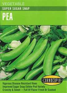 Cornucopia Garden Seeds 196 Super Sugar Snap Pea Seeds