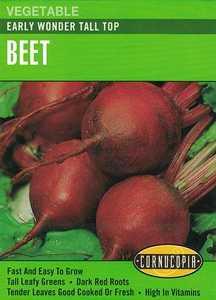 Cornucopia Garden Seeds 220 Early Wonder Tall Top Beet Seeds