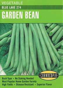 Cornucopia Garden Seeds 187 Blue Lake 274 Garden Bean Seeds
