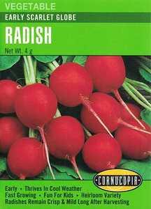 Cornucopia Garden Seeds 171 Early Scarlet Globe Radish Seeds