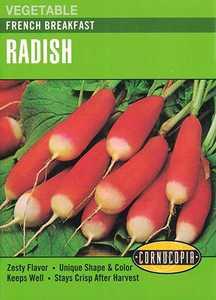 Cornucopia Garden Seeds 172 French Breakfast Radish Seeds