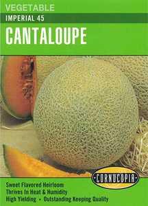 Cornucopia Garden Seeds 149 Imperial 45 Cantaloupe Seeds