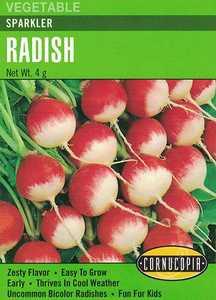 Cornucopia Garden Seeds 173 Sparkler Radish Seeds