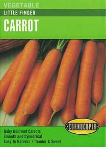 Cornucopia Garden Seeds 260 Little Finger Carrot Seeds