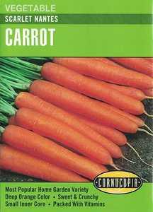 Cornucopia Garden Seeds 152 Scarlet Nantes Carrot Seeds