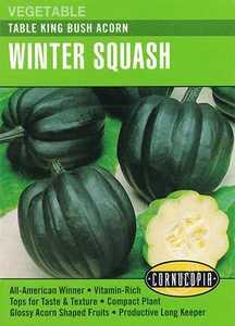 Cornucopia Garden Seeds 295 Table King Bush Acorn Winter Squash