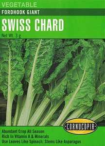 Cornucopia Garden Seeds 180 Fordhook Giant Swiss Chard Seeds