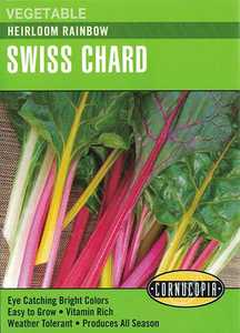Cornucopia Garden Seeds 285 Heirloom Rainbow Swiss Chard Seeds