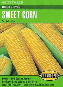 Cornucopia Garden Seeds 197 Jubilee Hybrid Sweet Corn Seeds
