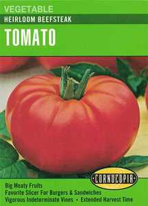 Cornucopia Garden Seeds 181 Heirloom Beefsteak Tomato Seeds