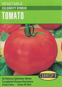 Cornucopia Garden Seeds 183 Celebrity Hybrid Tomato Seeds
