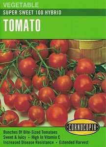 Cornucopia Garden Seeds 184 Super Sweet 100 Hybrid Tomato Seeds