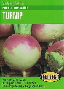 Cornucopia Garden Seeds 253 Purple Top White Turnip Seeds