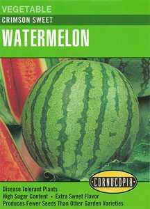Cornucopia Garden Seeds 186 Crimson Sweet Watermelon Seeds