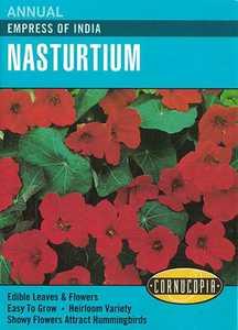 Cornucopia Garden Seeds 235 Empress Of India Nasturtium Seeds