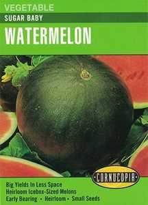 Cornucopia Garden Seeds 205 Sugar Baby Watermelon Seeds