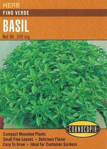 Cornucopia Garden Seeds 216 Fino Verdi Basil Seeds