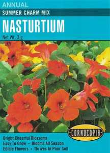 Cornucopia Garden Seeds 255 Summer Charm Mix Nasturtium Seeds