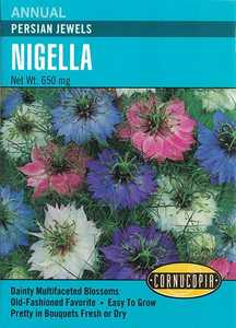 Cornucopia Garden Seeds 256 Persian Jewels Nigella Seeds