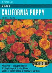 Cornucopia Garden Seeds 229 Mikado California Poppy Seeds