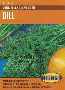 Cornucopia Garden Seeds 143 Long Island Mammoth Dill Seeds