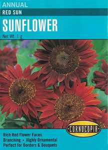 Cornucopia Garden Seeds 257 Red Sun Sunflower Seeds