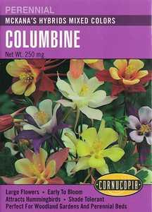 Cornucopia Garden Seeds 206 McKana's Hybrids Mixed Colors Columbine Seeds