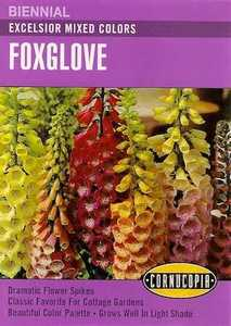 Cornucopia Garden Seeds 207 Excelsior Mixed Color Foxglove Seeds