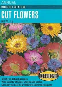 Cornucopia Garden Seeds 112 Bouquet Mixture Cut Flower Seeds