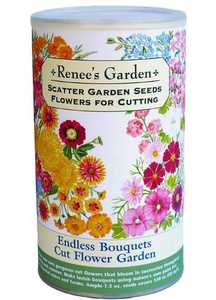Renee's Garden Seed Co. 8206 Endless Bouquets Cut Flower Garden Scatter Garden Seeds